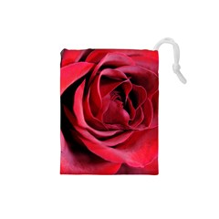 An Open Rose Drawstring Pouch (small)