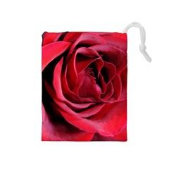 An Open Rose Drawstring Pouch (Medium)