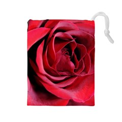 An Open Rose Drawstring Pouch (large)