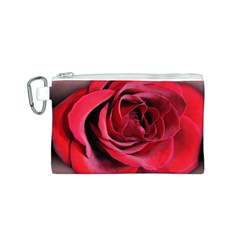 An Open Rose Canvas Cosmetic Bag (Small)
