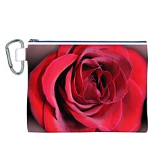 An Open Rose Canvas Cosmetic Bag (Large)