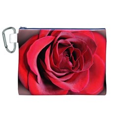 An Open Rose Canvas Cosmetic Bag (XL)