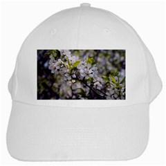Apple Blossoms White Baseball Cap