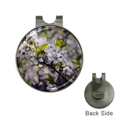 Apple Blossoms Hat Clip With Golf Ball Marker