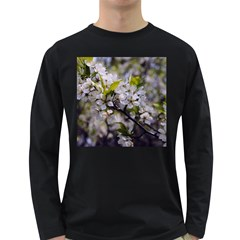 Apple Blossoms Men s Long Sleeve T Shirt (dark Colored)