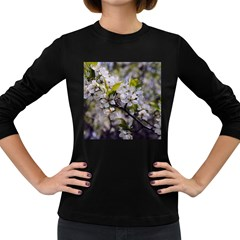 Apple Blossoms Women s Long Sleeve T Shirt (dark Colored)