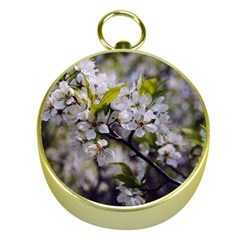 Apple Blossoms Gold Compass