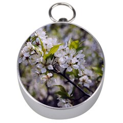 Apple Blossoms Silver Compass