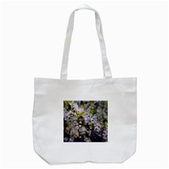 Apple Blossoms Tote Bag (White)