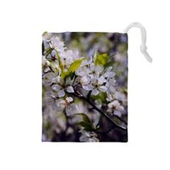 Apple Blossoms Drawstring Pouch (medium)