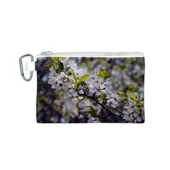 Apple Blossoms Canvas Cosmetic Bag (Small)