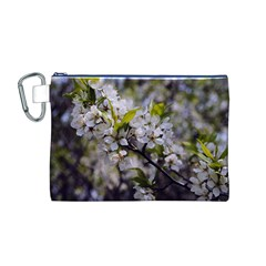 Apple Blossoms Canvas Cosmetic Bag (Medium)