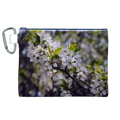 Apple Blossoms Canvas Cosmetic Bag (XL)