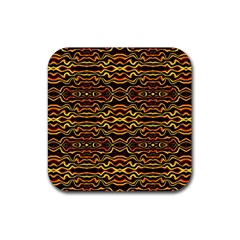 Tribal Art Abstract Pattern Drink Coaster (square)