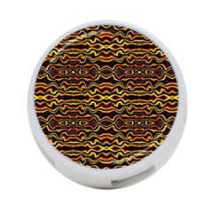 Tribal Art Abstract Pattern 4 Port Usb Hub (one Side)