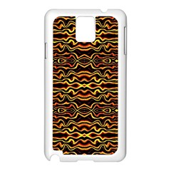 Tribal Art Abstract Pattern Samsung Galaxy Note 3 N9005 Case (White)