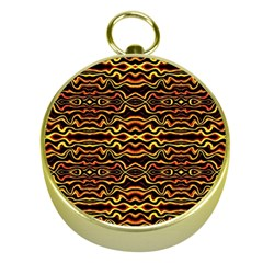 Tribal Art Abstract Pattern Gold Compass