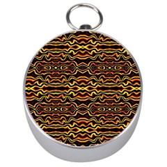 Tribal Art Abstract Pattern Silver Compass
