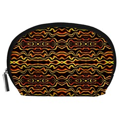 Tribal Art Abstract Pattern Accessory Pouch (large)