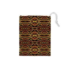 Tribal Art Abstract Pattern Drawstring Pouch (small)