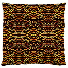 Tribal Art Abstract Pattern Large Flano Cushion Case (Two Sides)