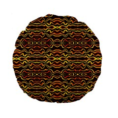 Tribal Art Abstract Pattern 15  Premium Flano Round Cushion