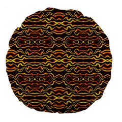 Tribal Art Abstract Pattern 18  Premium Flano Round Cushion