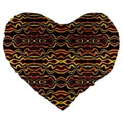 Tribal Art Abstract Pattern 19  Premium Flano Heart Shape Cushion