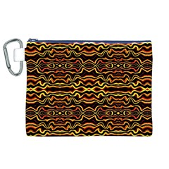 Tribal Art Abstract Pattern Canvas Cosmetic Bag (XL)