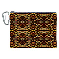 Tribal Art Abstract Pattern Canvas Cosmetic Bag (XXL)