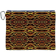 Tribal Art Abstract Pattern Canvas Cosmetic Bag (xxxl)