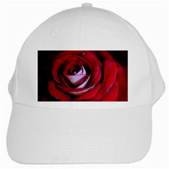 Red Rose Center White Baseball Cap