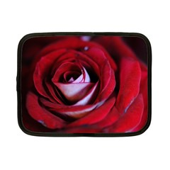 Red Rose Center Netbook Sleeve (small)