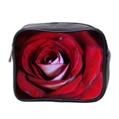 Red Rose Center Mini Travel Toiletry Bag (two Sides)
