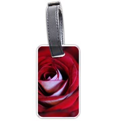 Red Rose Center Luggage Tag (one Side)
