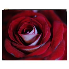 Red Rose Center Cosmetic Bag (xxxl)
