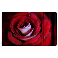 Red Rose Center Apple Ipad 2 Flip Case