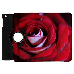 Red Rose Center Apple Ipad Mini Flip 360 Case