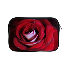Red Rose Center Apple Ipad Mini Zippered Sleeve