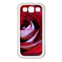Red Rose Center Samsung Galaxy S3 Back Case (white)