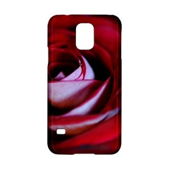 Red Rose Center Samsung Galaxy S5 Hardshell Case
