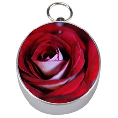 Red Rose Center Silver Compass