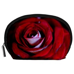 Red Rose Center Accessory Pouch (Large)