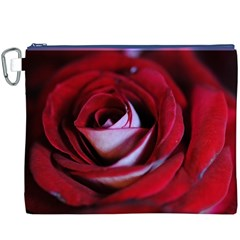 Red Rose Center Canvas Cosmetic Bag (xxxl)