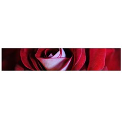 Red Rose Center Flano Scarf (Large)