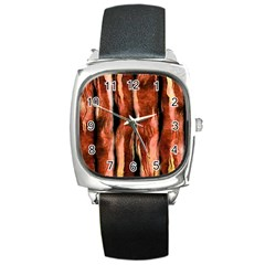 Bacon Square Leather Watch