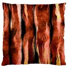 Bacon Large Cushion Case (single Sided)