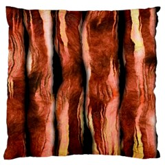 Bacon Large Flano Cushion Case (one Side)