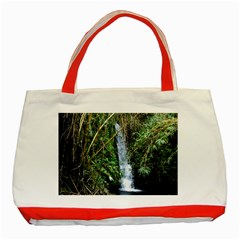Bamboo Waterfall Classic Tote Bag (red)