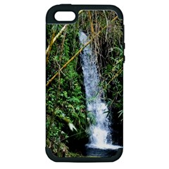 Bamboo Waterfall Apple Iphone 5 Hardshell Case (pc+silicone)